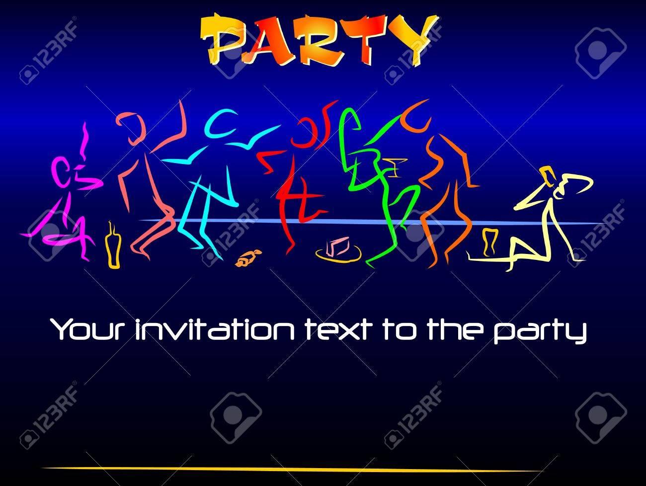 Cartel O Tarjeta La Invitación A Las Fiestas Juveniles Diversión