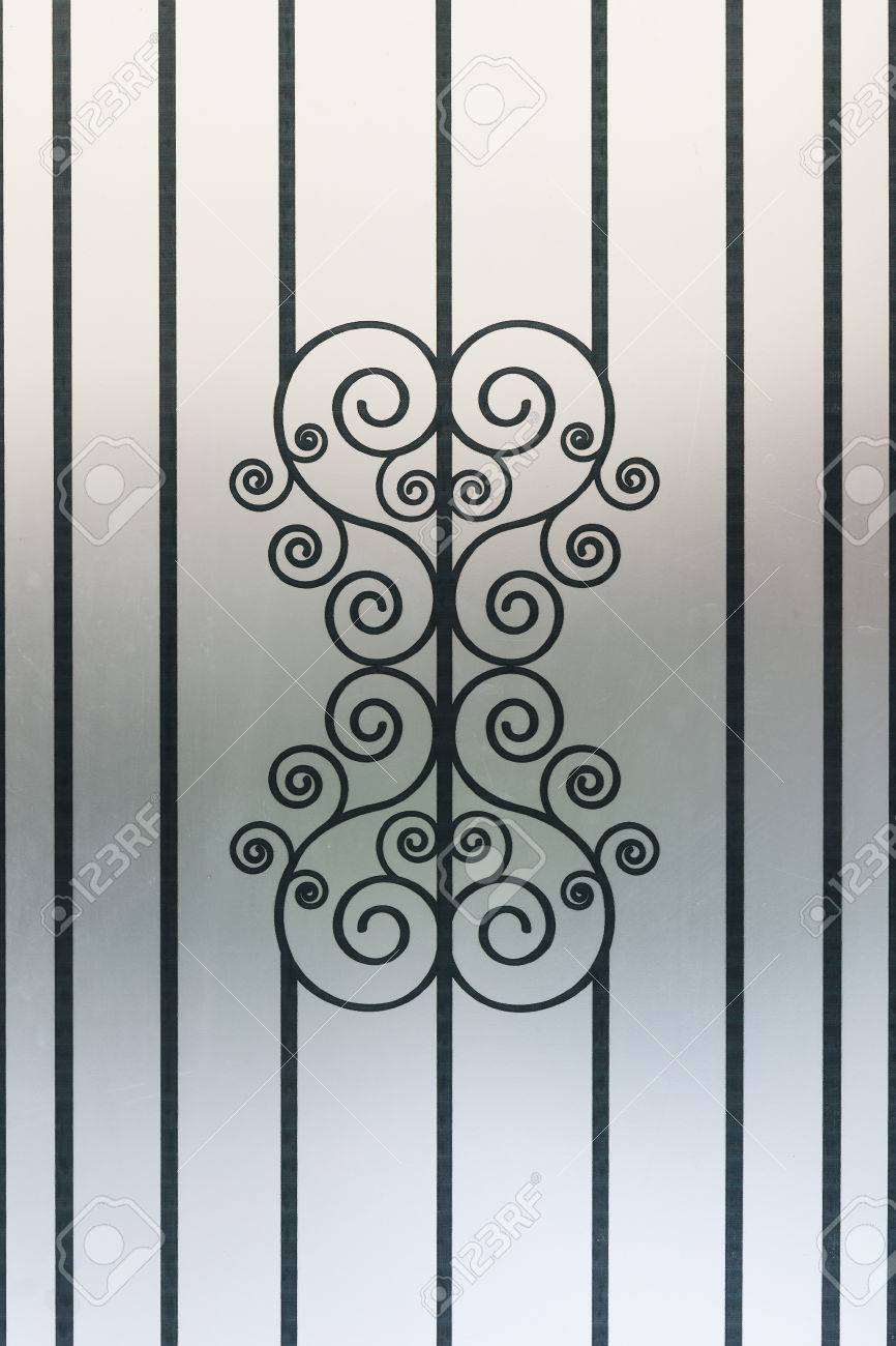 Frosted Glass Designs Design Pattern Texture On Frosted Glass Wall Stock Photo Picture