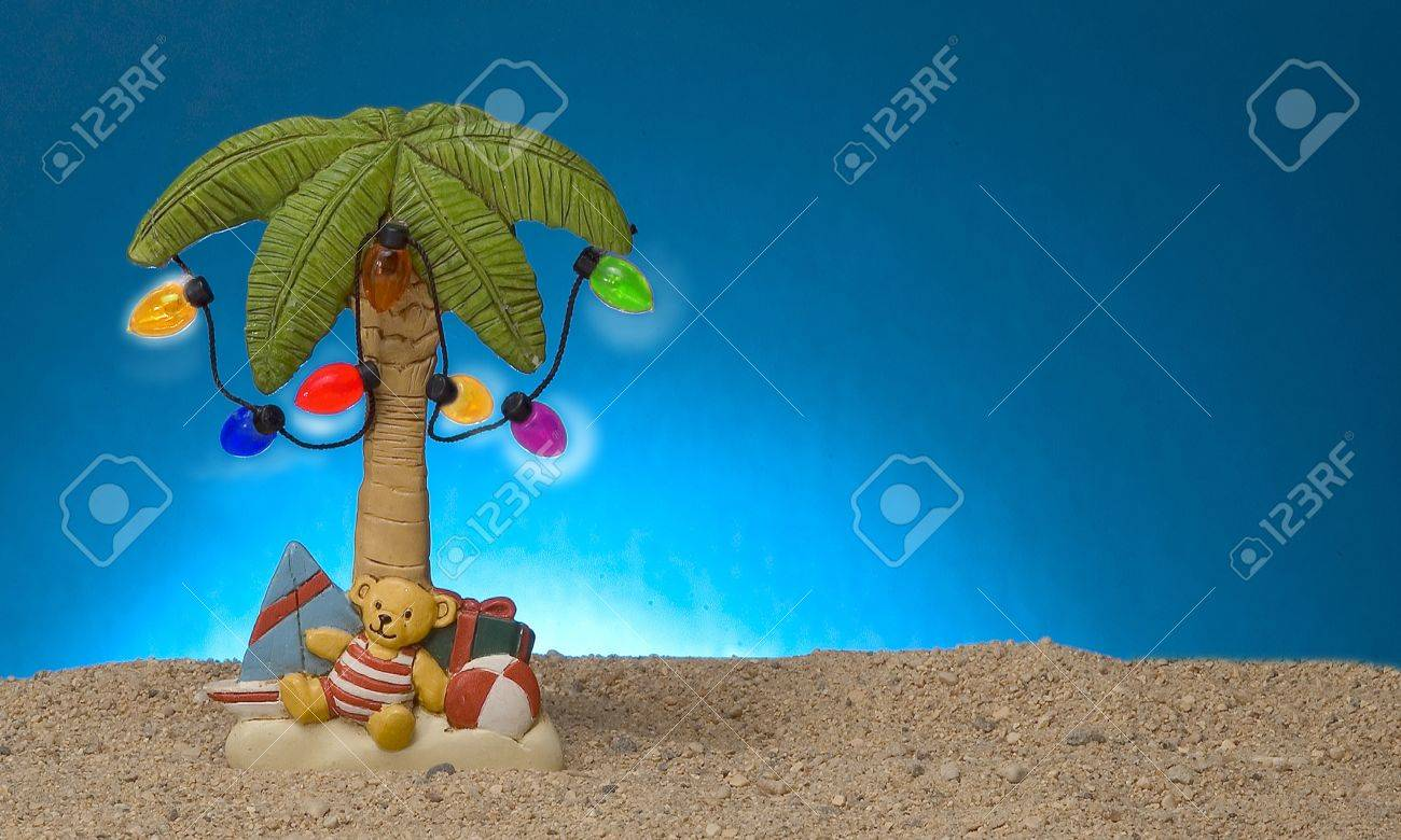 palm tree decoration with lights Stock Photo - 9259885