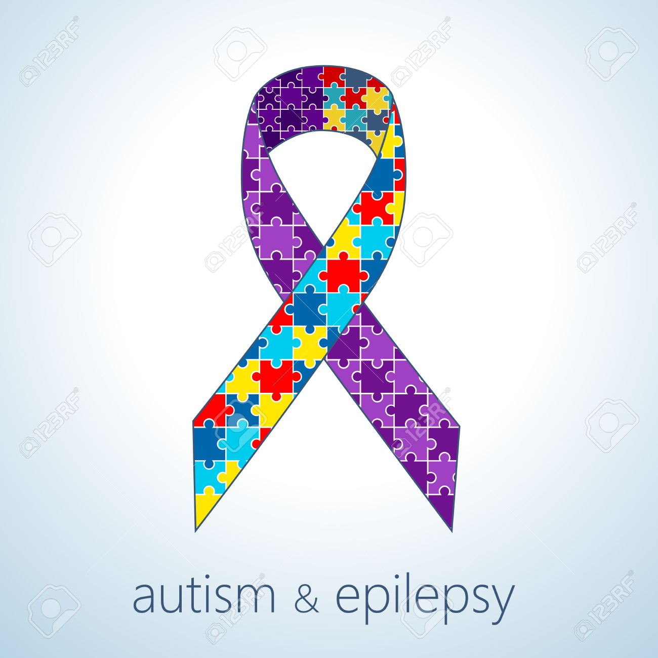 Vector Illustration Of Autism And Epilepsy Connection Concept ...
