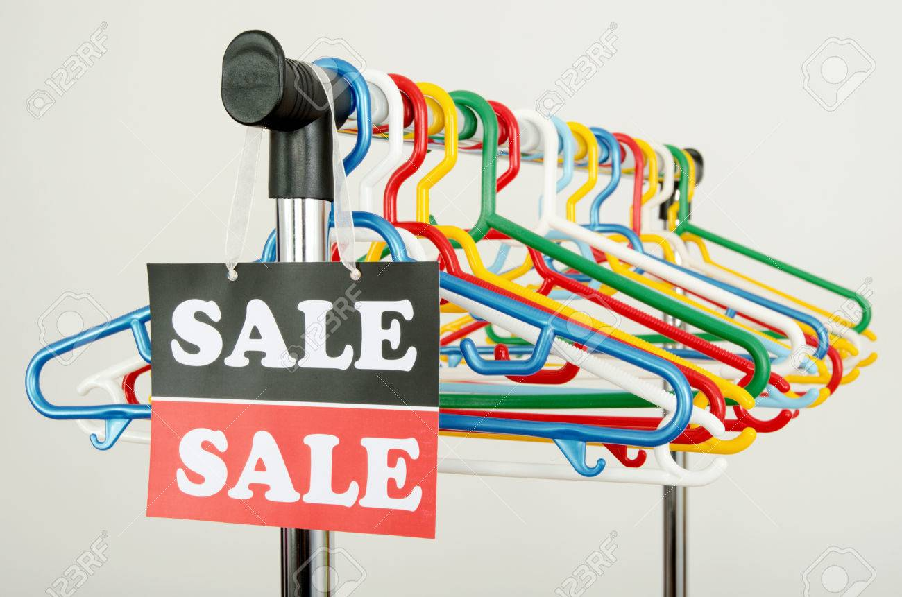 Rack Sale And a Big Sale Sign Rack