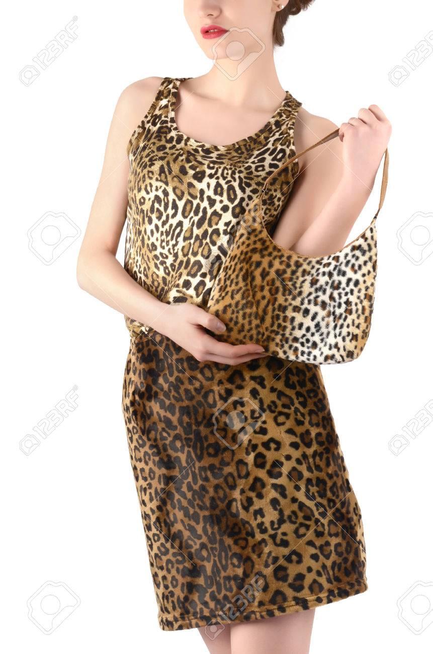 Mujer Con Vestida La Irreconocible Animal Falda Print Blusa Y Una rrU1Wwnq