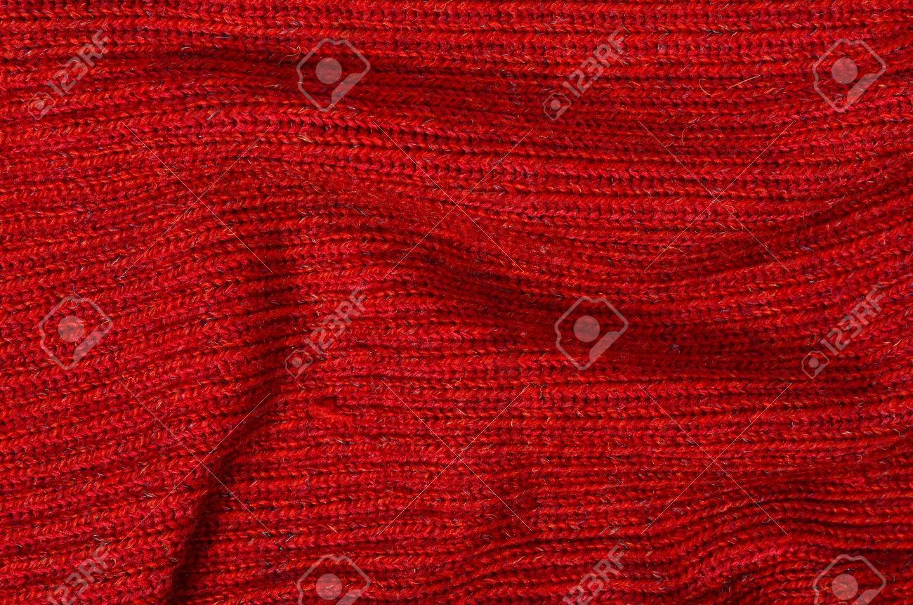 Patrón De Suéter De Lana Como Fondo. Ciérrese Para Arriba En Rojo De ...