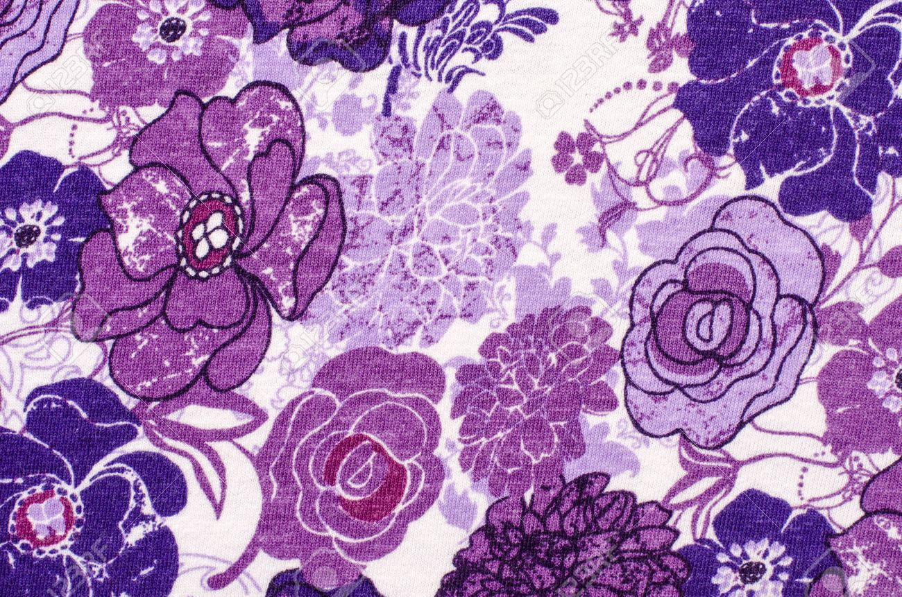 Purple floral pattern on white fabric mauve abstract flowers purple floral pattern on white fabric mauve abstract flowers print as background stock photo mightylinksfo