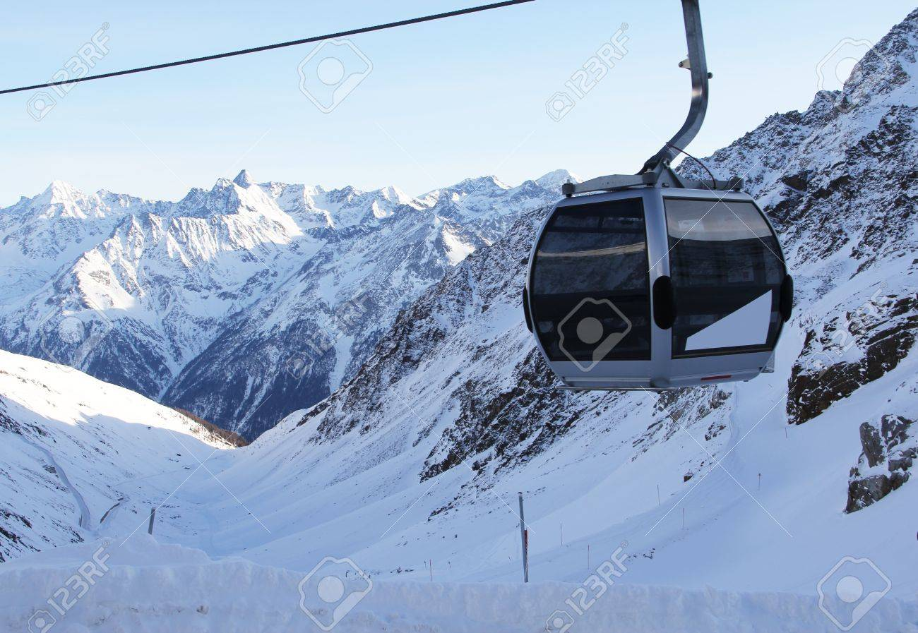 chairlift in beautiful winter snowy alpine mountains Stock Photo - 12757500