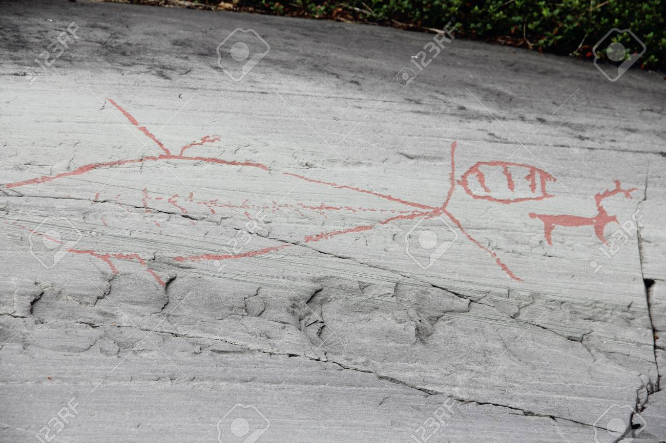 ノルウェーのアルタの岩絵 の写真素材・画像素材 Image 29605423.