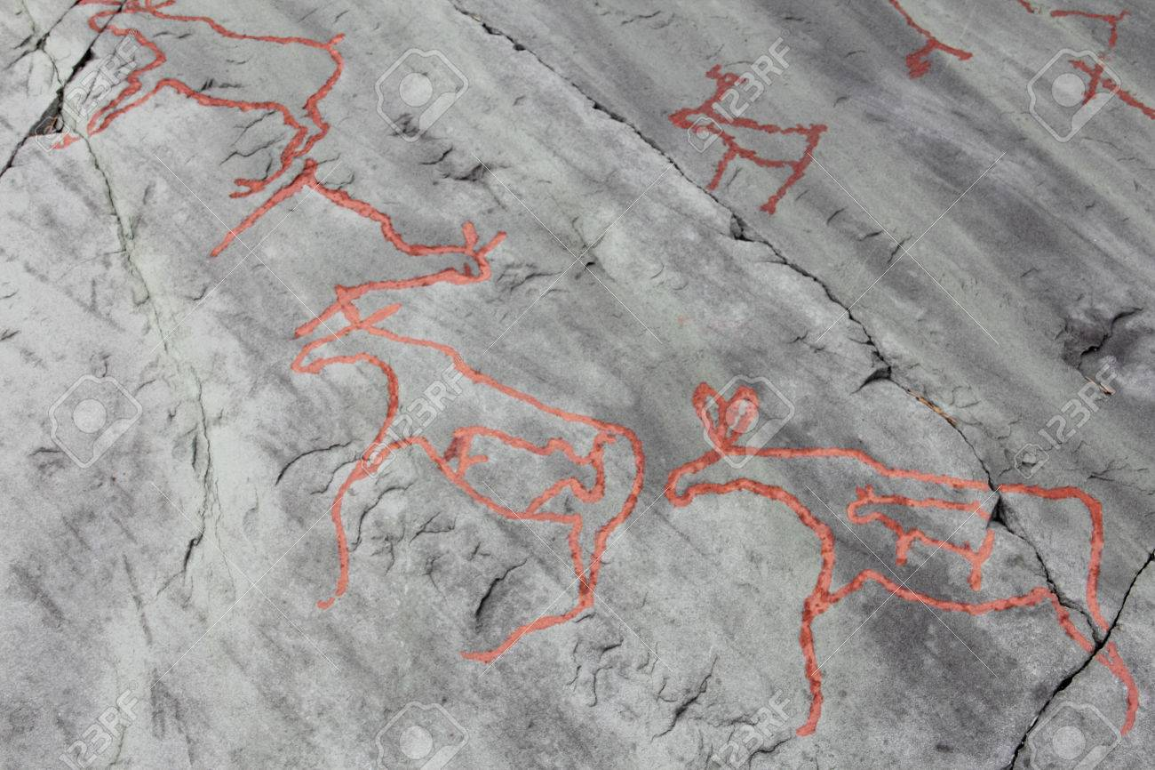 Rock carvings at alta norway stock photo picture and royalty