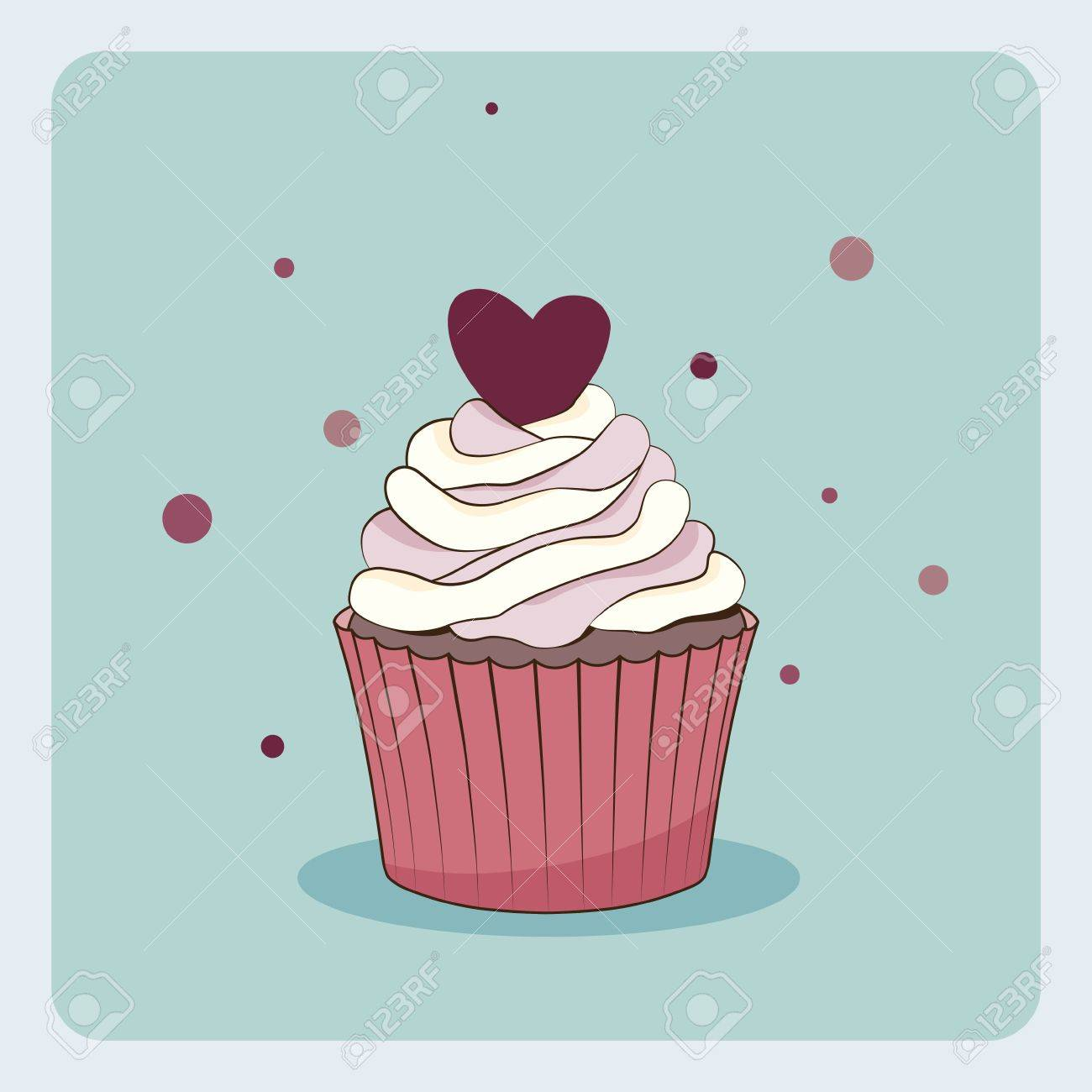 Birthday Card With Cupcake Royalty Free Cliparts Vectors And – Cupcake Birthday Cards