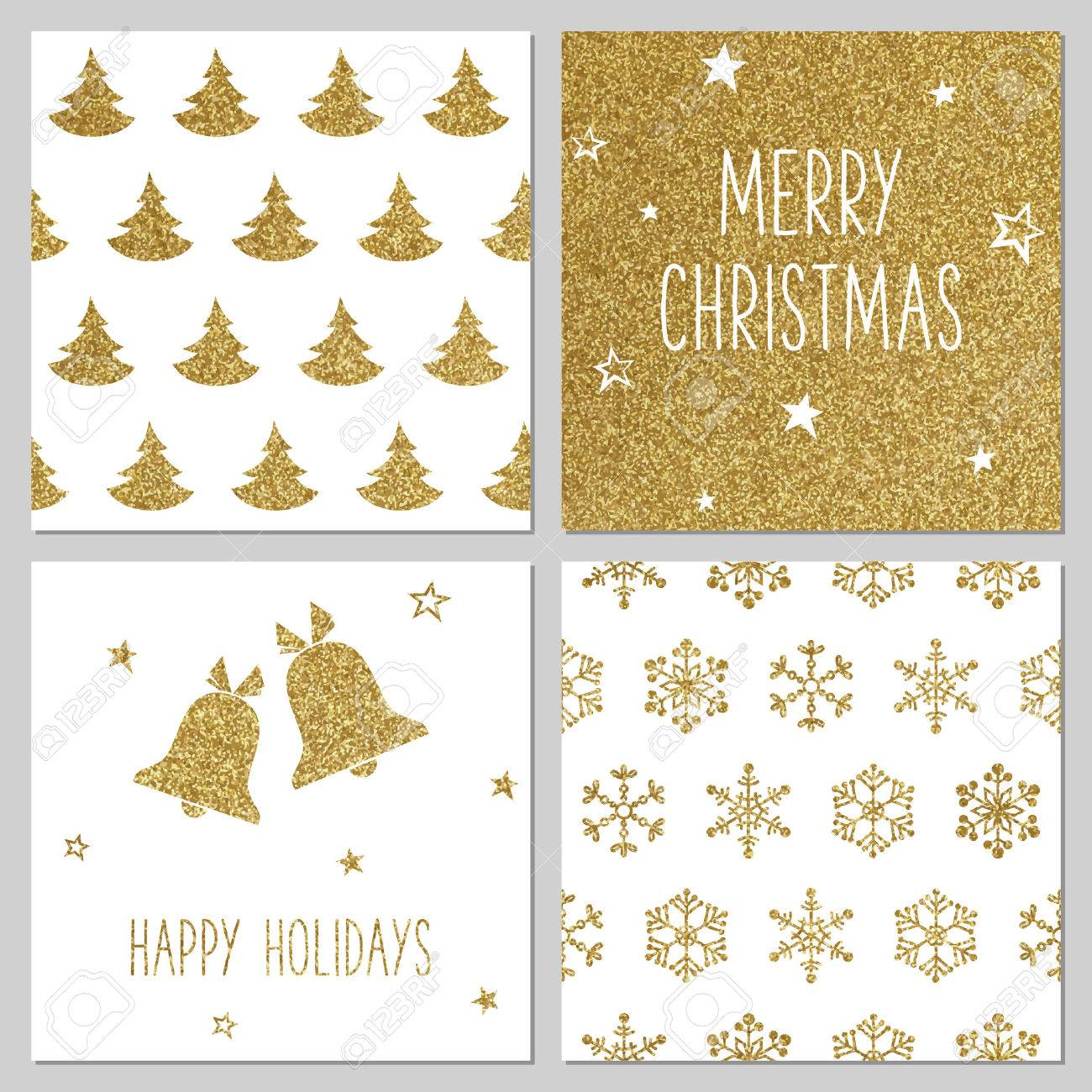 Christmas gold pattern, greeting card templates - 48202617
