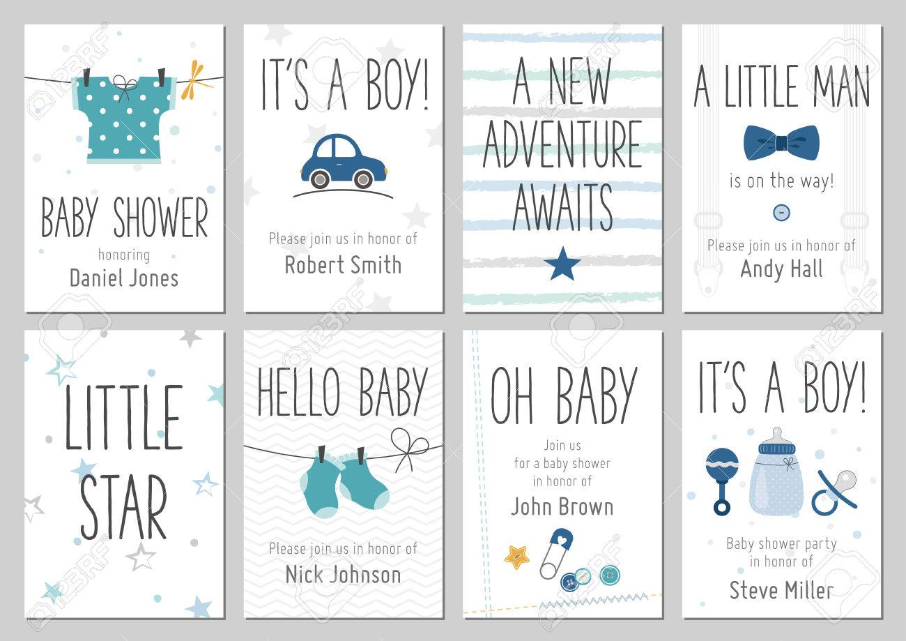 Baby shower invitations baby boy arrival and shower cards baby shower invitations baby boy arrival and shower cards collection vector invitations with baby filmwisefo