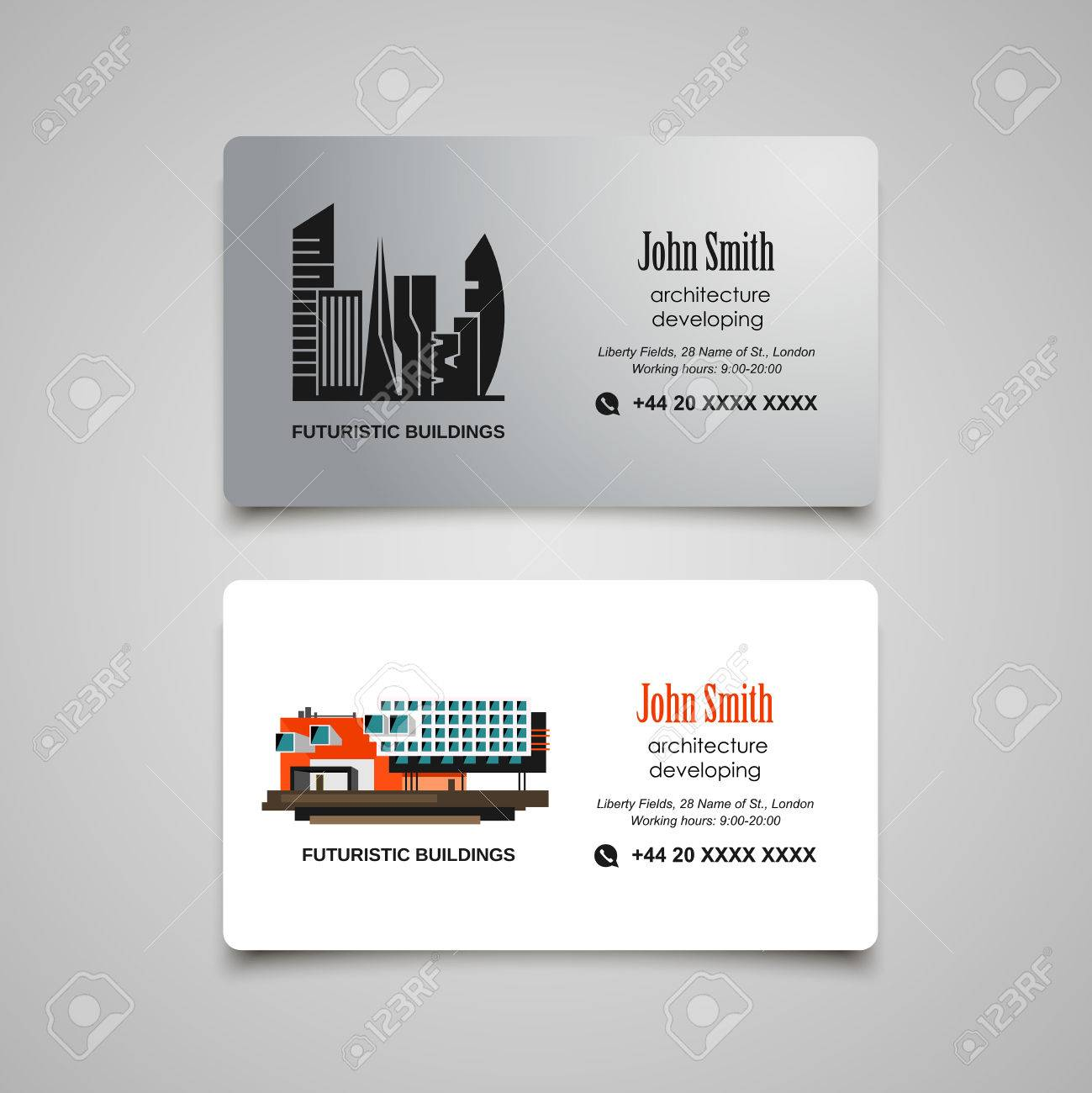 Architecture Developing Or Rent Business Card Template Royalty Free ...