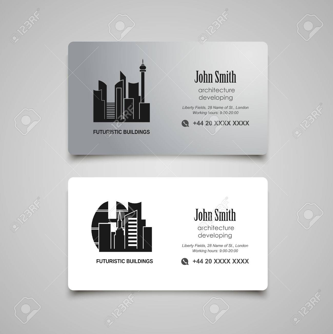 Architecture Developing Or Rent Business Card Template Royalty ...