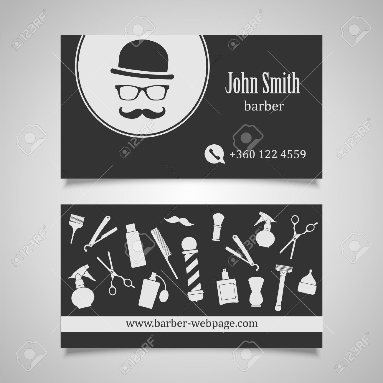 Hair salon barber shop business card design template royalty free hair salon barber shop business card design template stock vector 41875428 fbccfo
