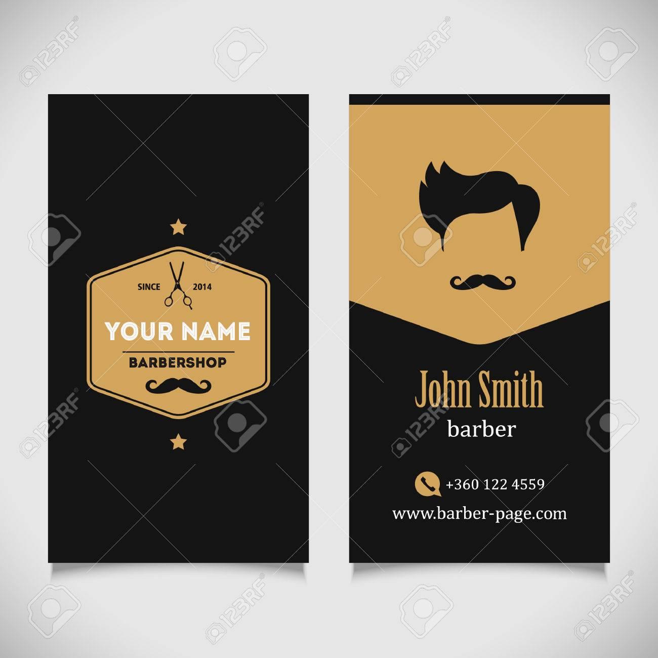 Hair salon barber shop business card design template royalty free hair salon barber shop business card design template stock vector 41643674 accmission Choice Image