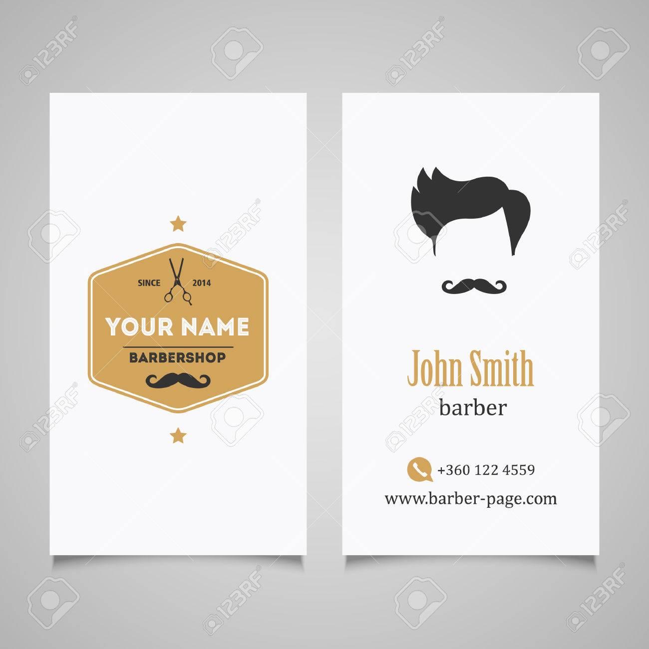 Hair salon barber shop business card design template royalty free hair salon barber shop business card design template stock vector 41643341 wajeb Choice Image