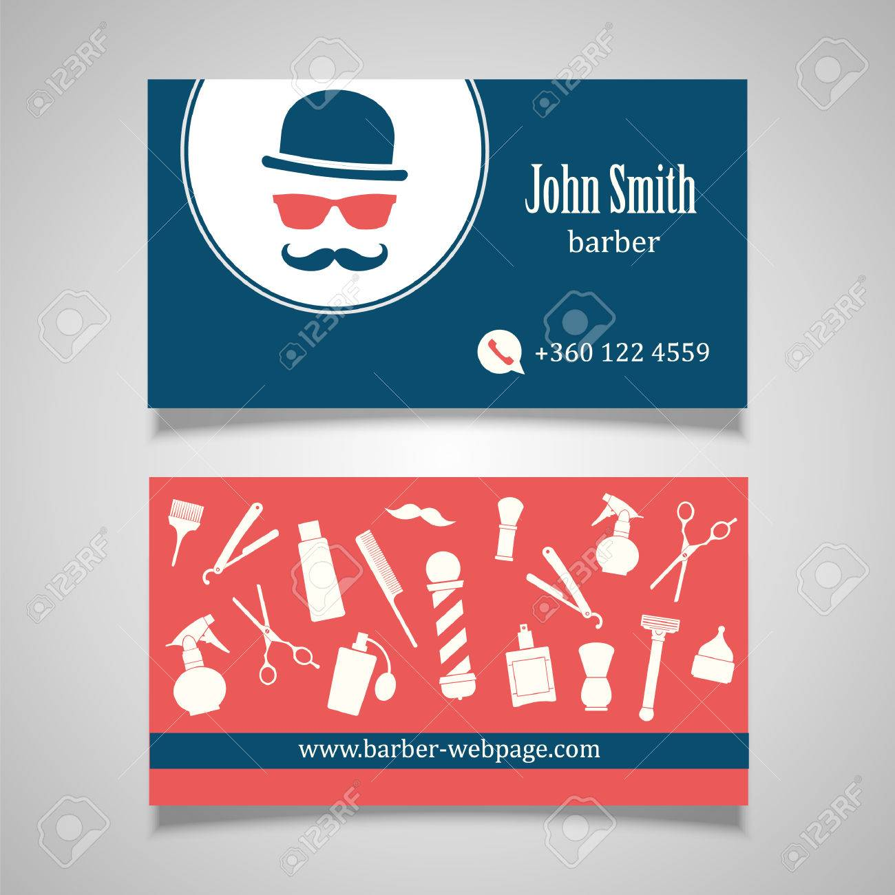 Hair salon barber shop business card design template royalty free hair salon barber shop business card design template stock vector 41642488 flashek Images