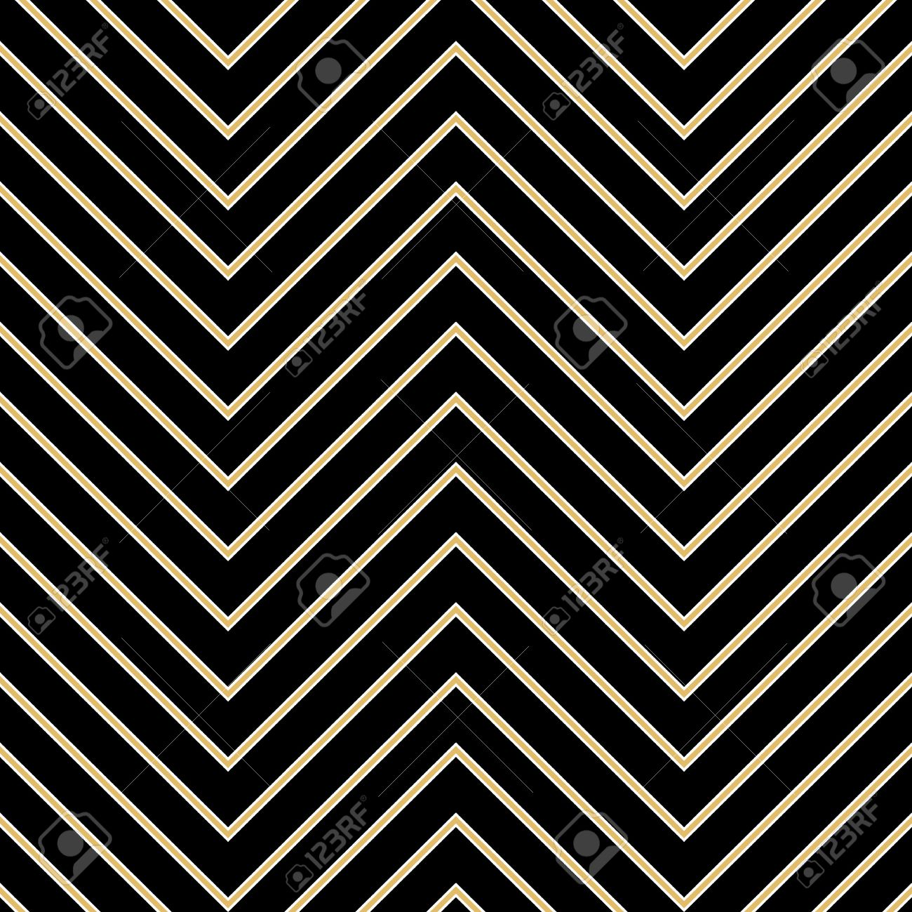 Art Deco Seamless Vintage Wallpaper Patterns Vector