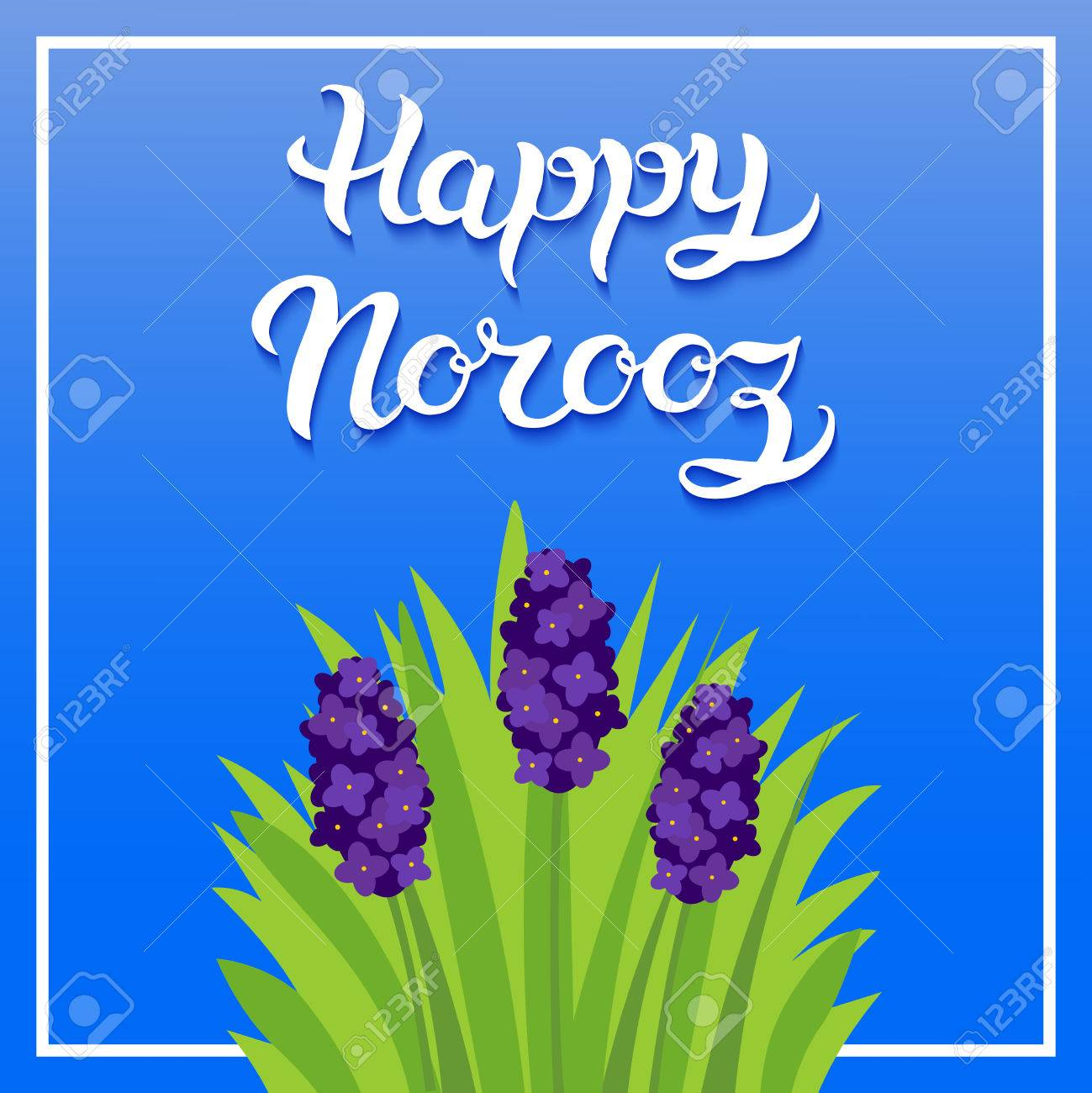 Greeting Card With Title Happy Norooz Word Norooz Mean The