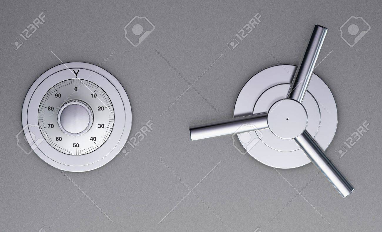 One 3d render of a closeup of a safe door Stock Photo - 9277823 & One 3d Render Of A Closeup Of A Safe Door Stock Photo Picture And ...