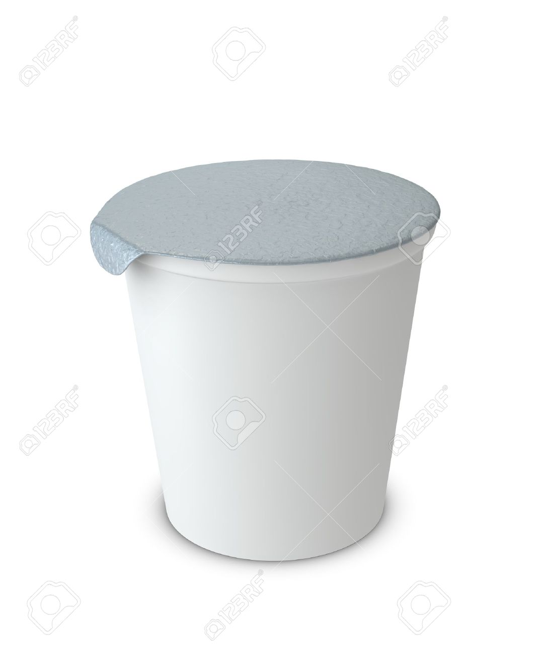 One 3d yogurt cup with blank space for general purpose Stock Photo - 9882808