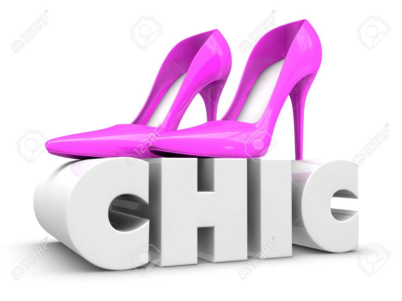 One pair of high heels shoes over the word chic 3d render stock one pair of high heels shoes over the word chic 3d render stock photo publicscrutiny Images
