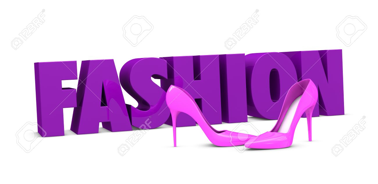 One pair of high heels shoes with the word fashion on background one pair of high heels shoes with the word fashion on background 3d render publicscrutiny Images