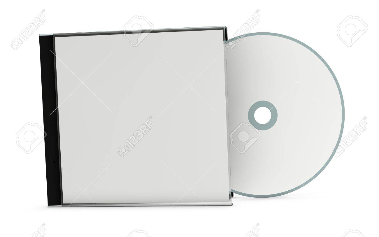 one cd or dvd case with a disc (3d render) Stock Photo - 10920758