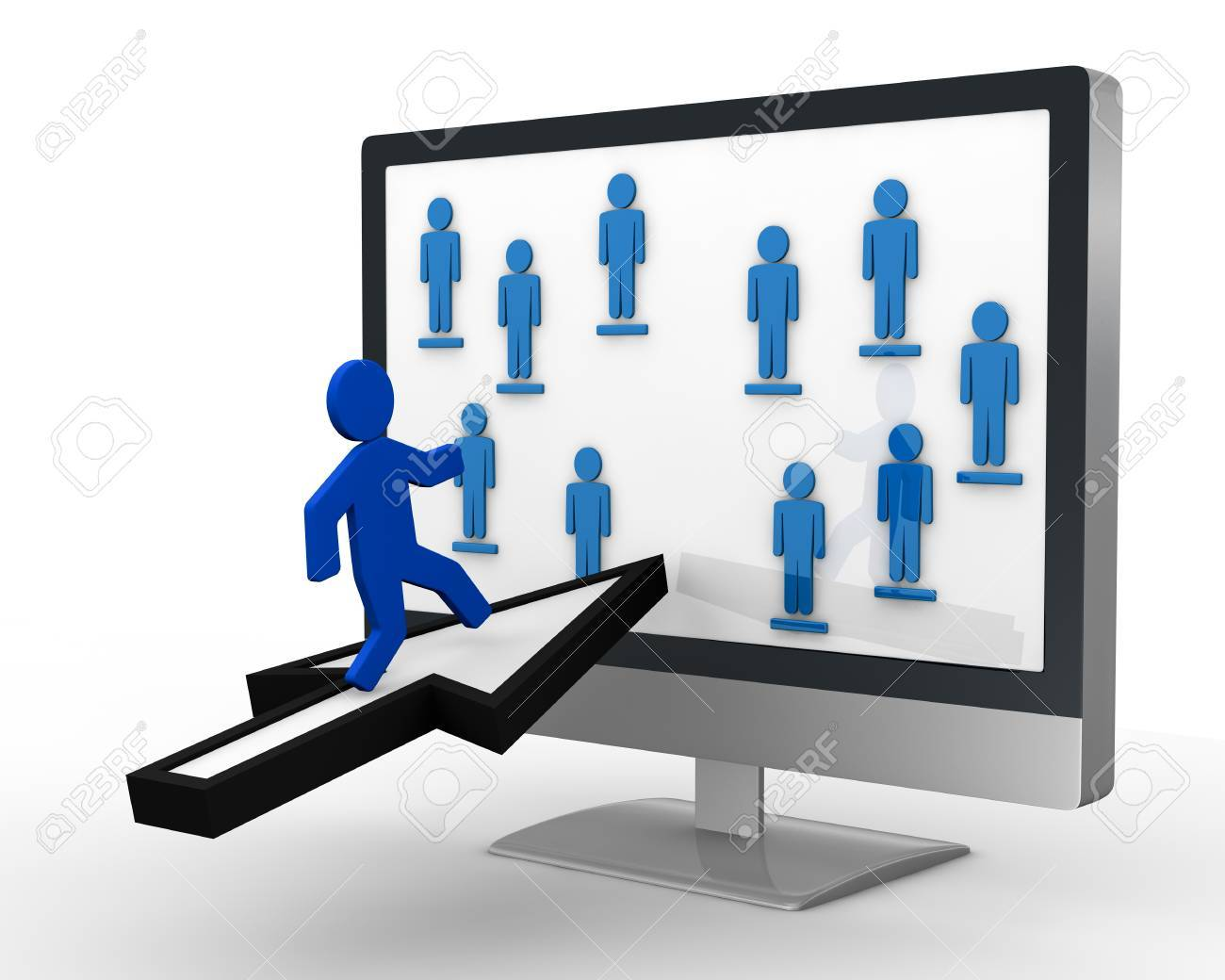 image to show the concept of social network or team work (3d render) Stock Photo - 10920820