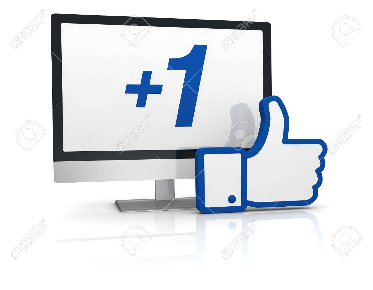 the typical thumb up of social networks (3d render) Stock Photo - 11097970