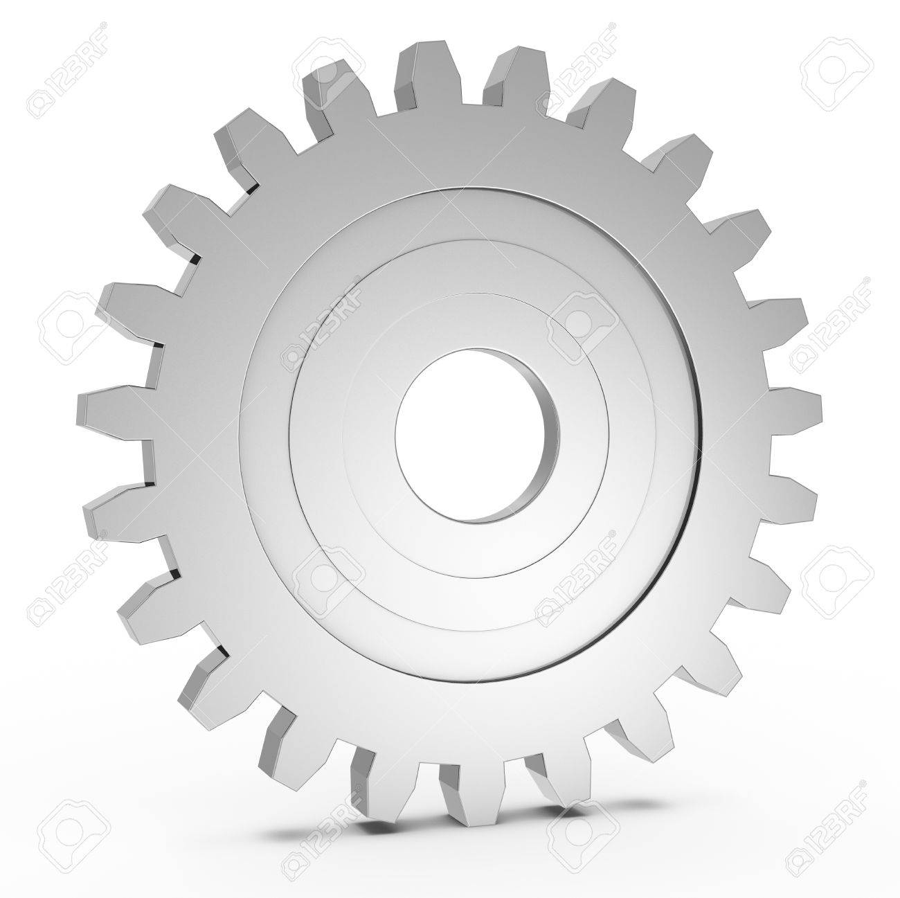 one gear with light reflection (3d render) Stock Photo - 12826423
