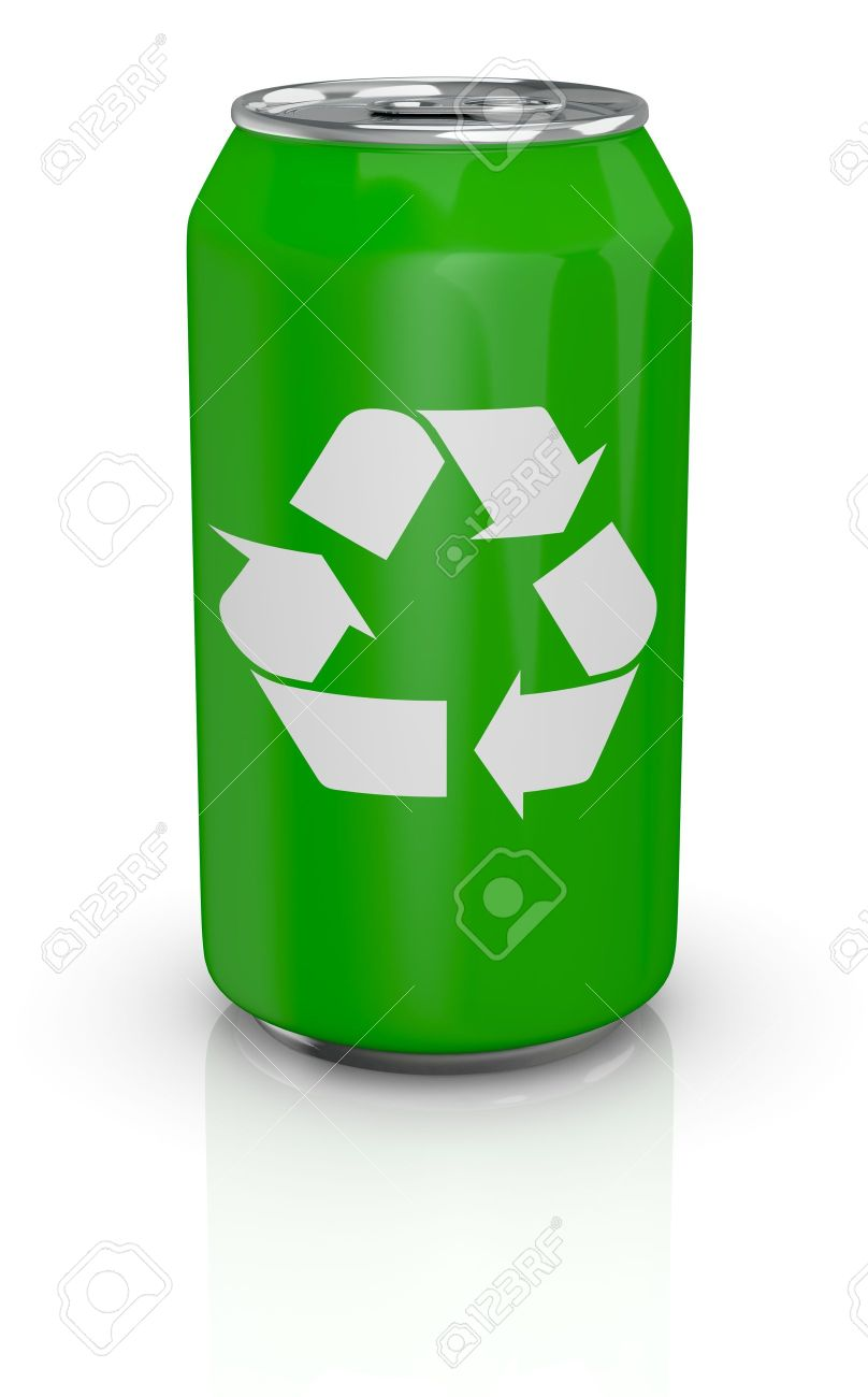 One green aluminium can with the recycling symbol printed on one green aluminium can with the recycling symbol printed on it 3d render stock biocorpaavc Gallery