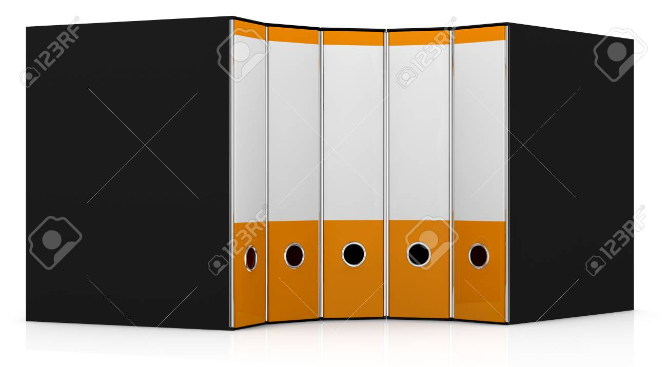 office folders in a semicircle (3d render) Stock Photo - 13936416