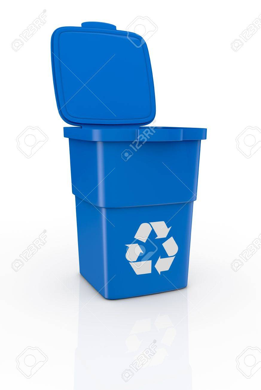 Assez Un Bac De Recyclage Ouverte, Avec Le Symbole De Recyclage (3d  RY11