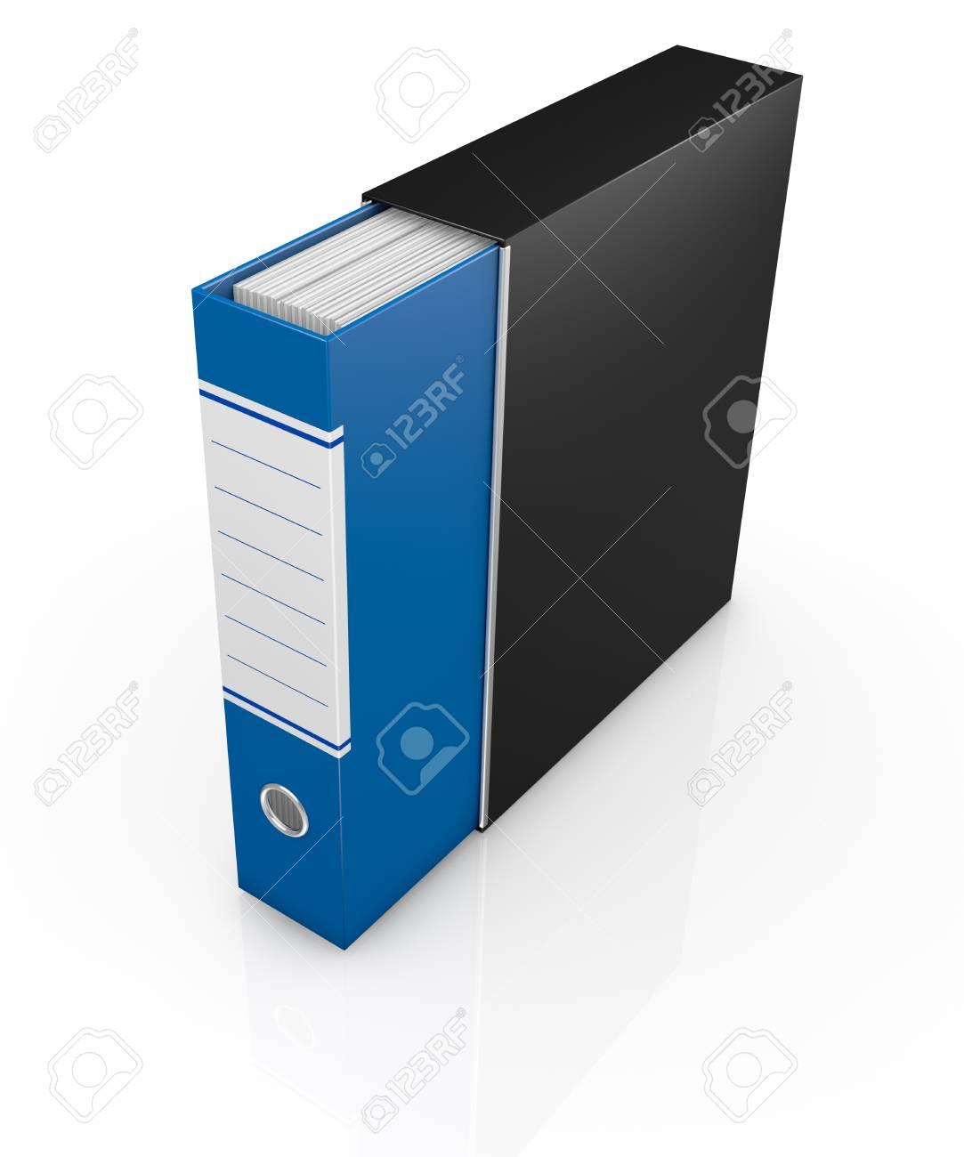 one office folder full of documents (3d render) Stock Photo - 16847051