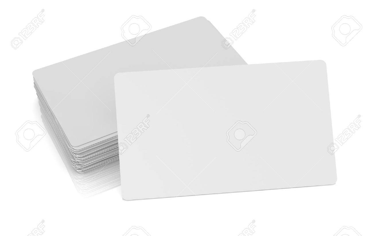 One Business Card With Blank Space For Custom Text Or Image And ...