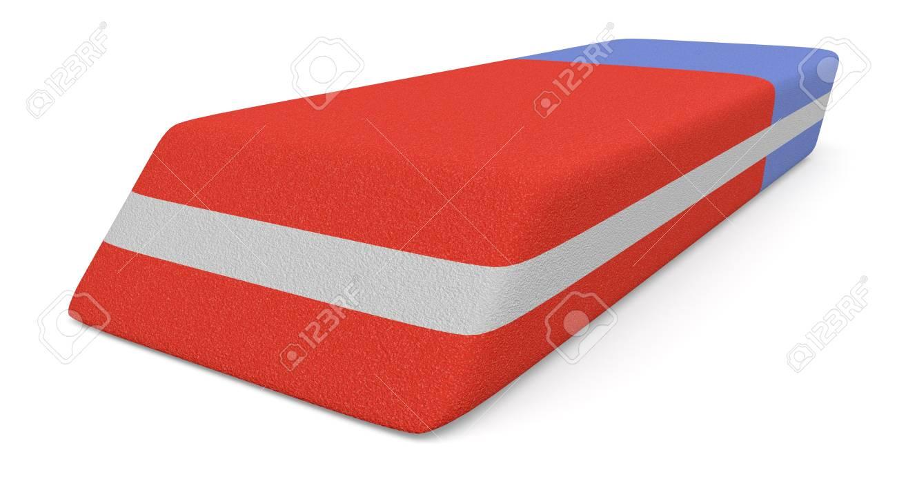 close up view of an eraser (3d render) Stock Photo - 20006805