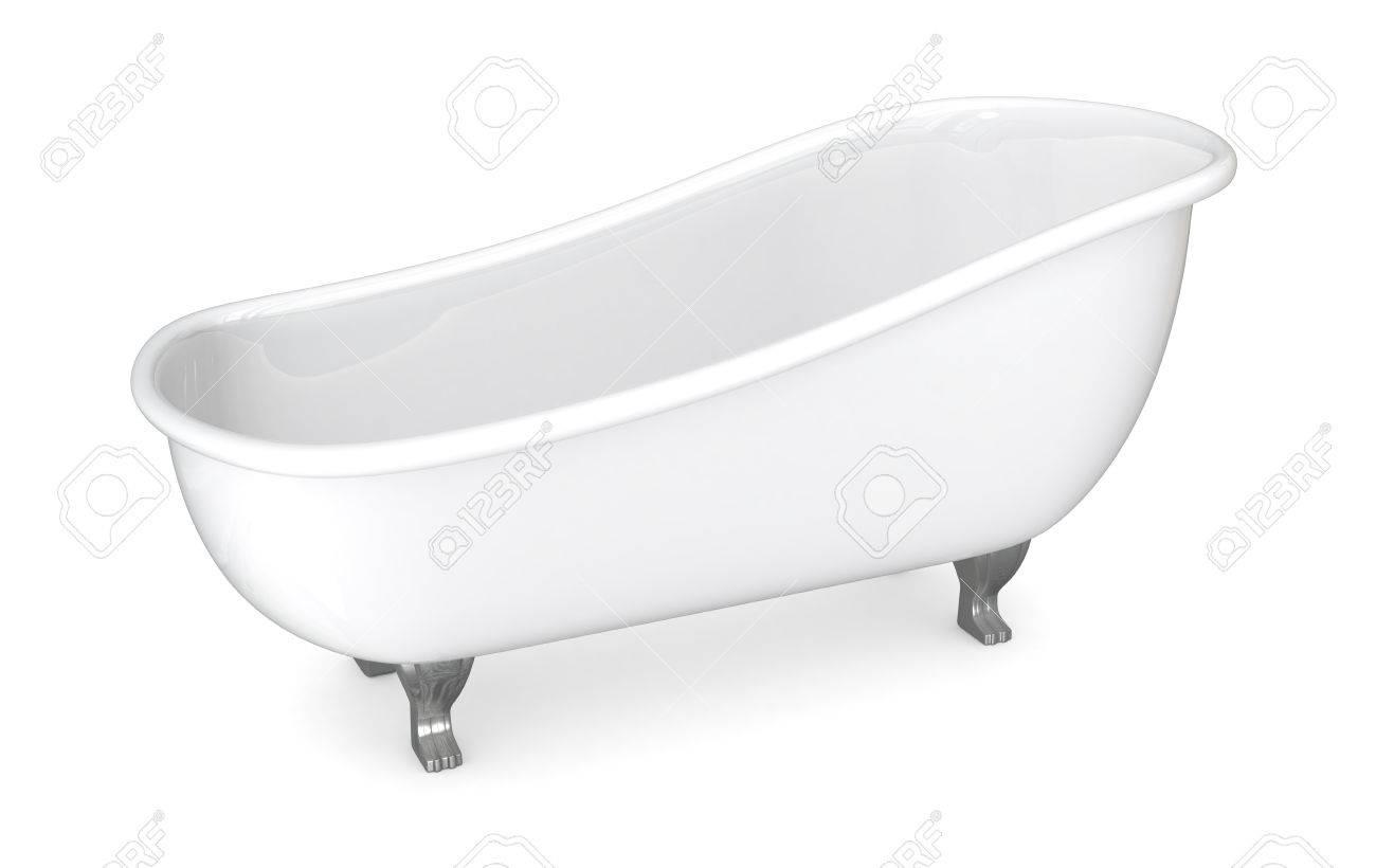 Vasche Da Bagno D Epoca : Una vasca da bagno depoca su sfondo bianco rendering 3d foto