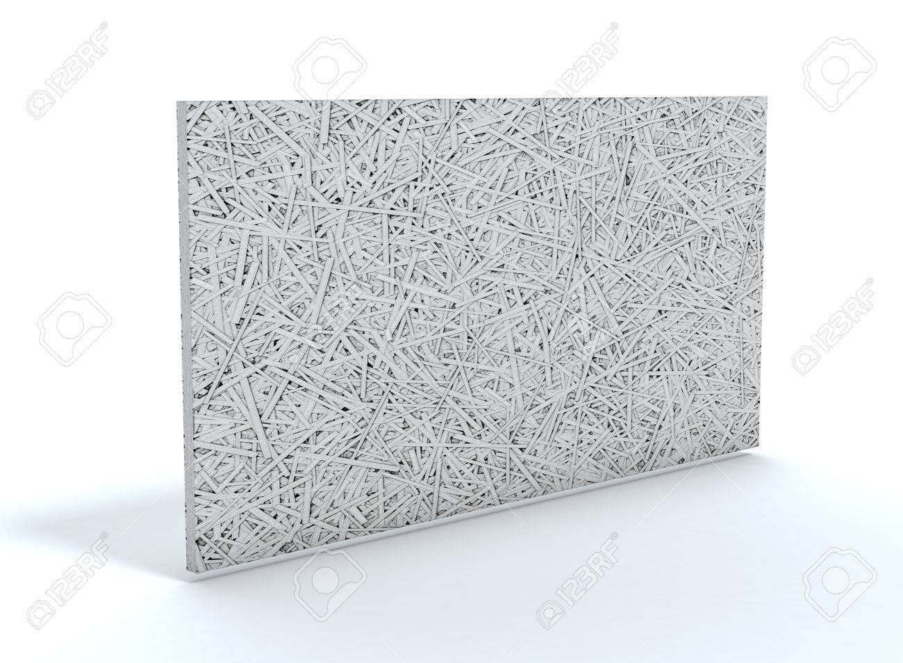 cement bonded wood fiber thermal insulation panel (3d render)