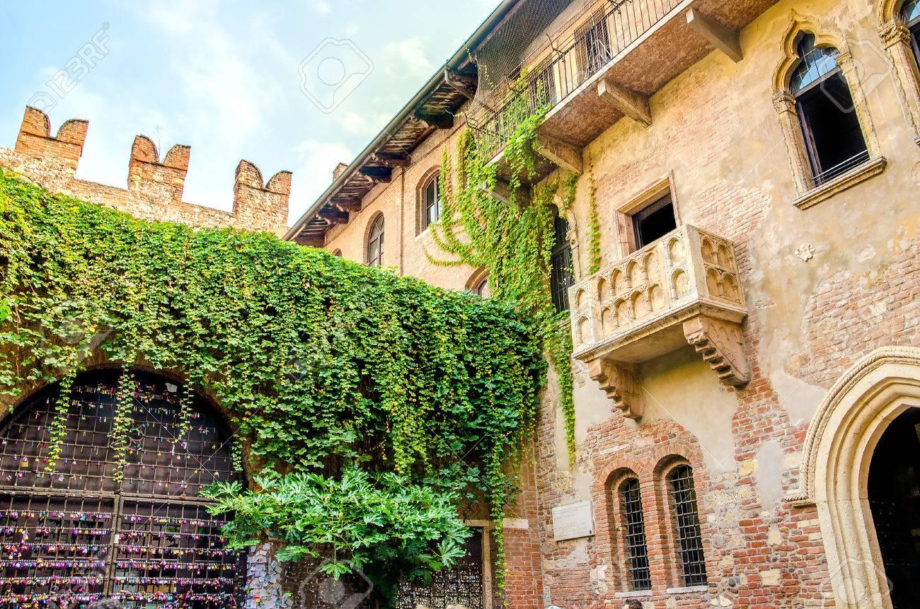 Die Ursprungliche Romeo Und Julia Balkon Befindet Sich In Verona