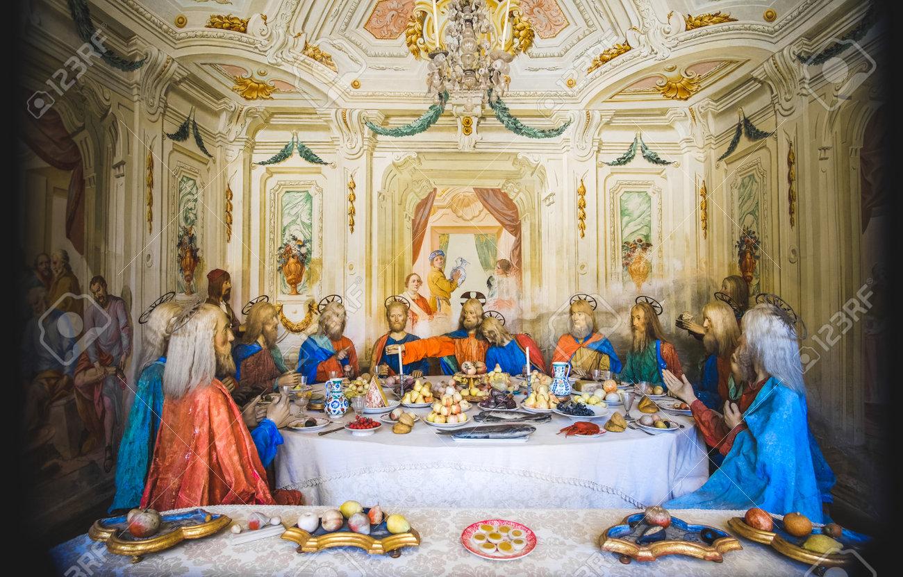biblical scene representation presepe of the last supper of