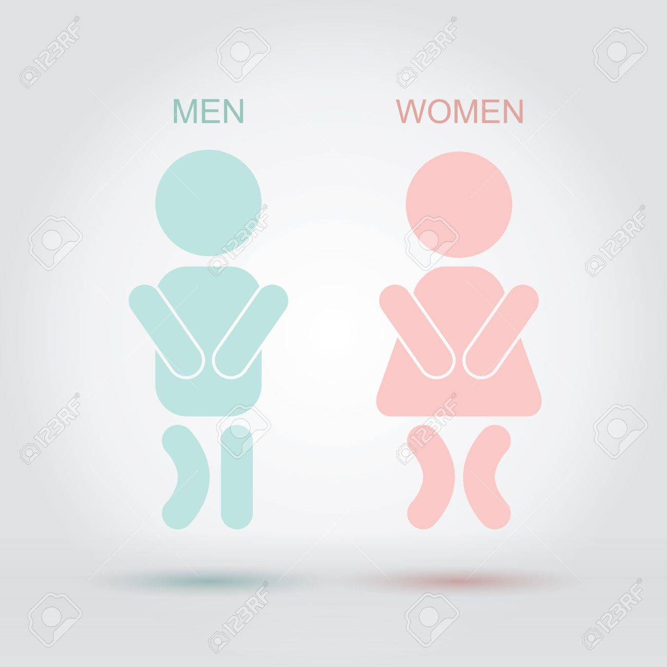 Bathroom Signs Holding Hands men women bathroom sign royalty free cliparts, vectors, and stock