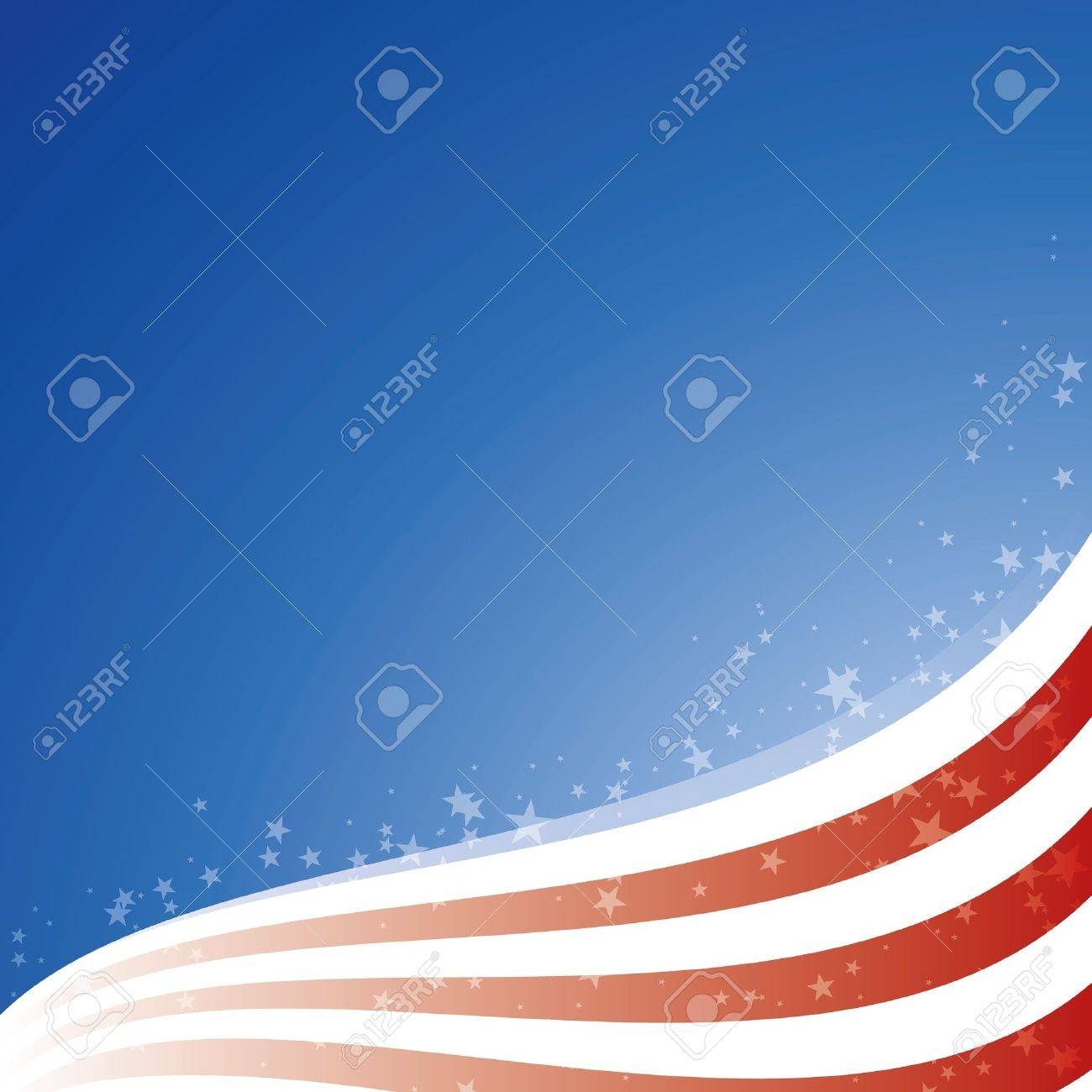 Vector background USA flag with light and stars Stock Vector - 19596319