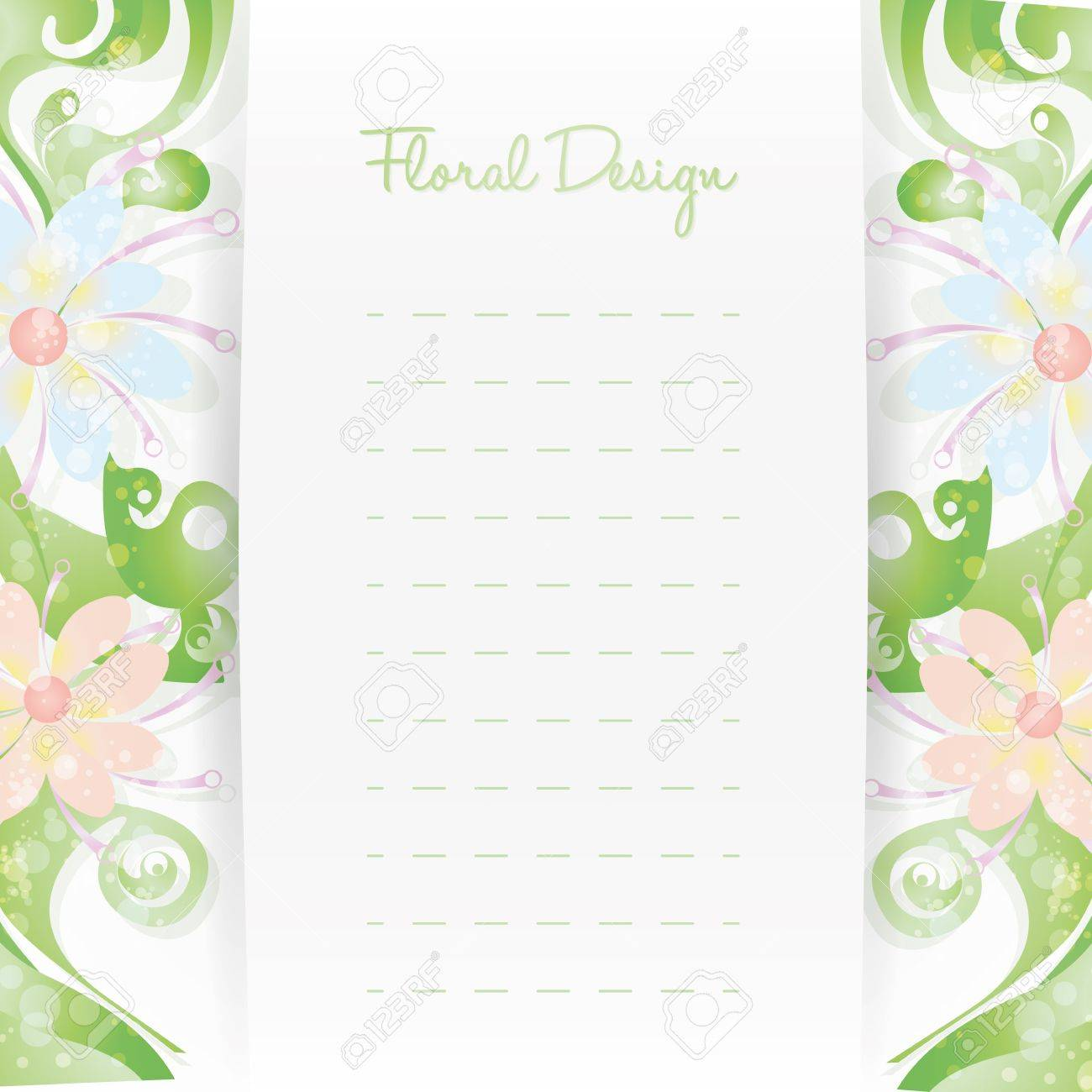 Floral Card Invitation Template Flower Design Royalty Free – Card Invitation Template
