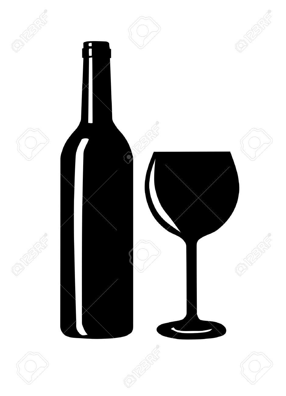 wine bottle and glass silhouette vector illustration royalty free rh 123rf com wine bottle vector art wine bottle vector image