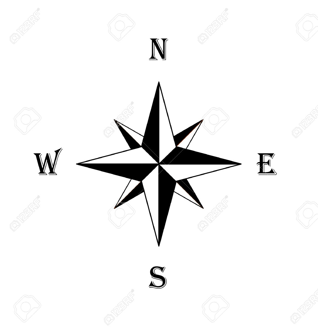 Black Compass Rose Royalty Free Cliparts Vectors And Stock