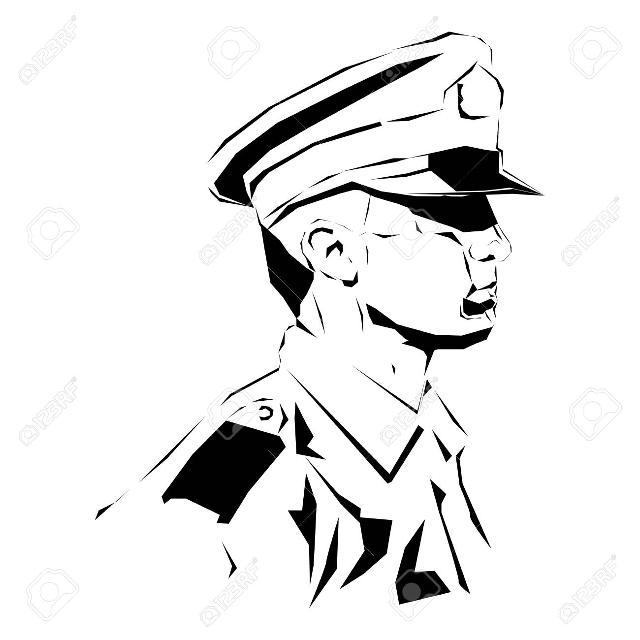 Soldier  Policeman drawing, security