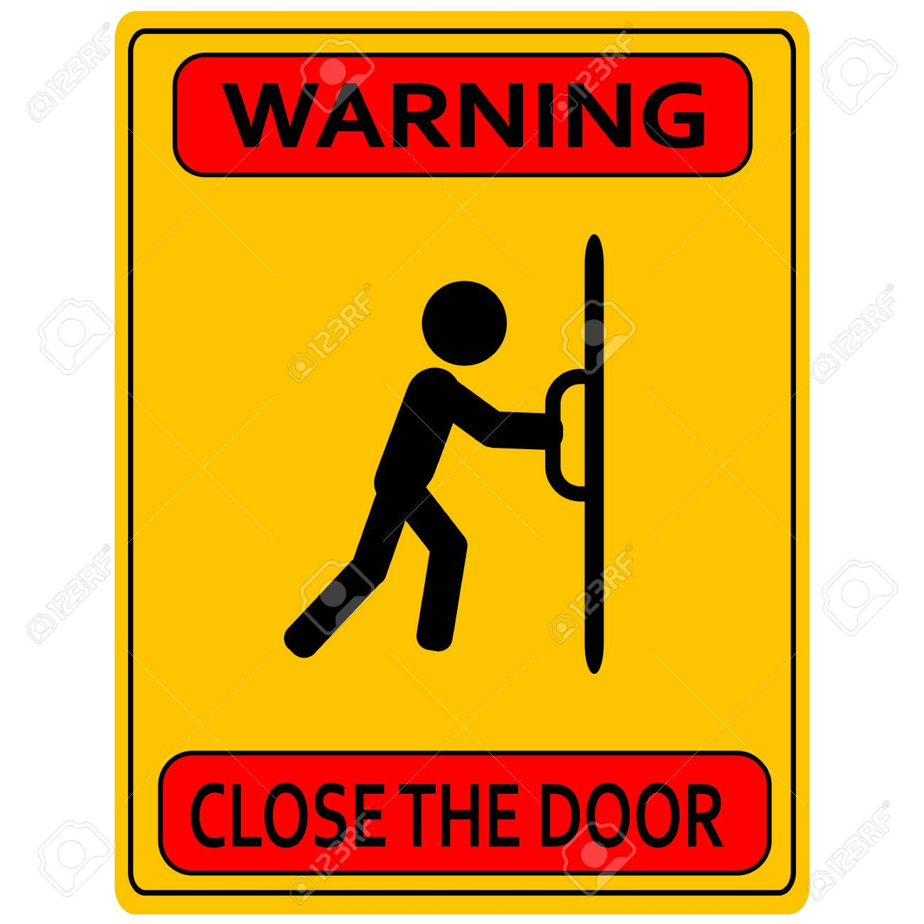 Close The Door >> Close The Door Sign Keep This Door Closed Sign Royalty Free