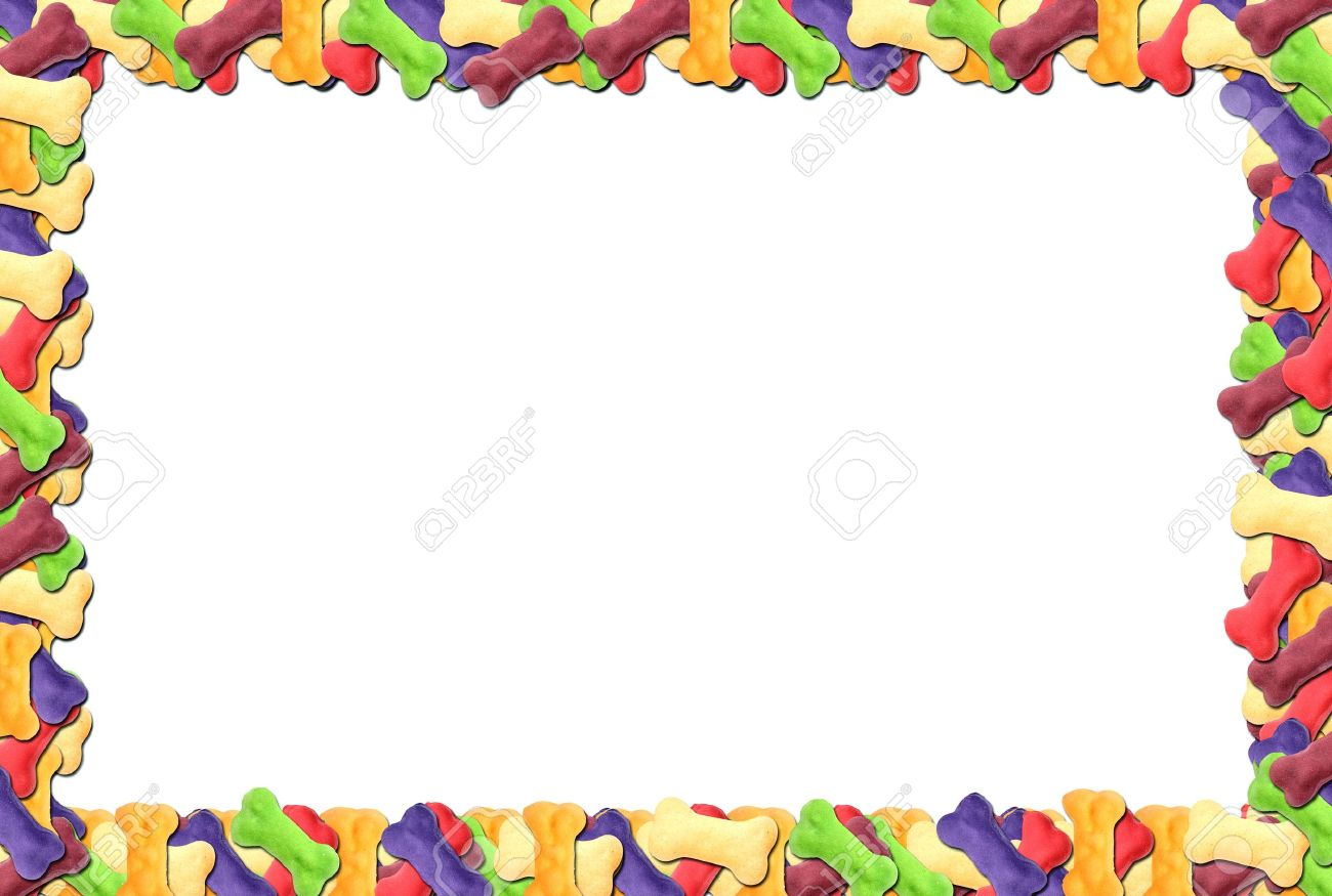 colored dog biscuit frame stock photo 18335654 - Dog Frame