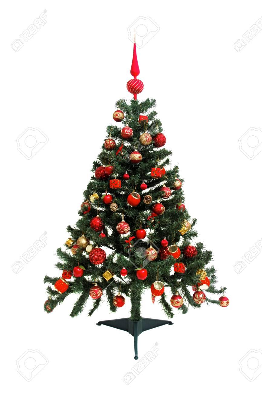 Christmas tree red summit - isolated on white isolated on white background Stock Photo - 18582965