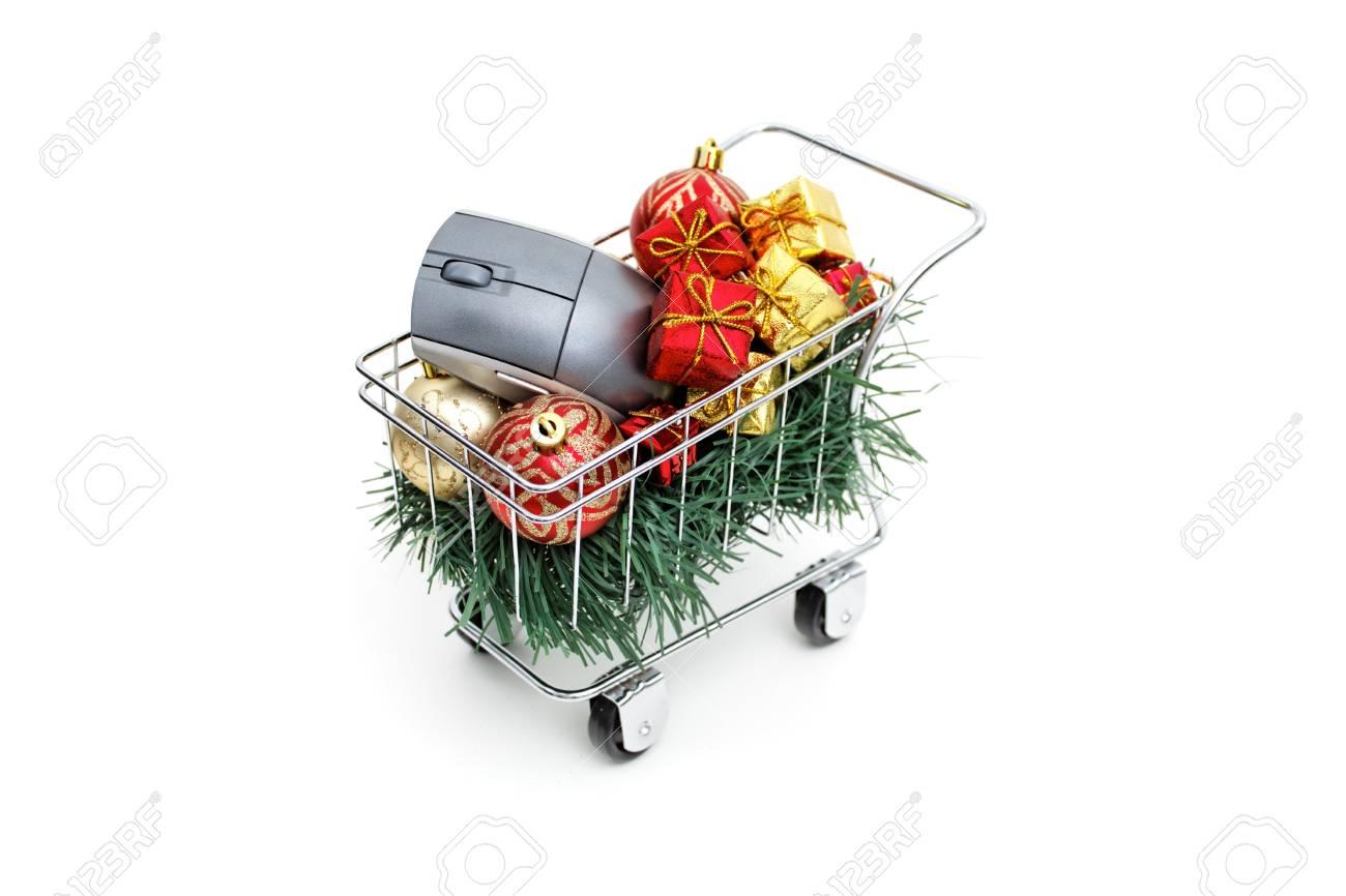 E-commerce Christmas time on white background Stock Photo - 18582098